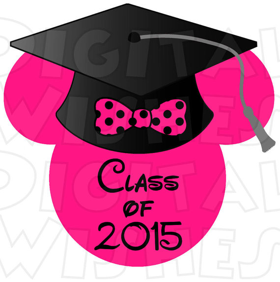 Graduation clipart minnie mouse Digital image Minnie Iron custom