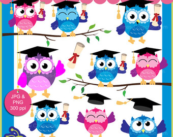 Graduation clipart owl Owls clipart school colorful Graduation