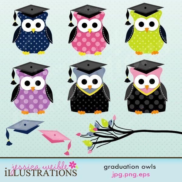 Graduation clipart owl Of Owl Cap with Owl