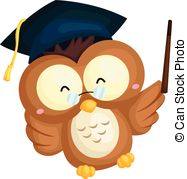 Graduation clipart owl Of Clipart Graduation Vector of