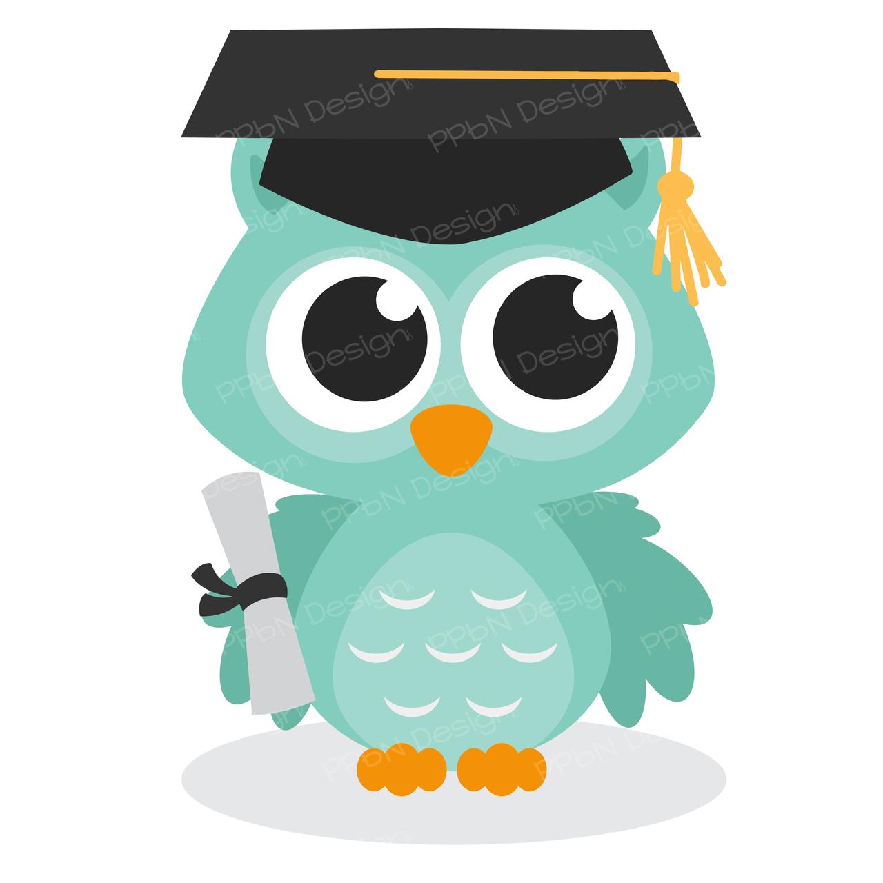 Graduation clipart owl 00 $0 Owl  ppbndesigns