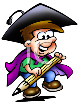 Graduation clipart pencil Royalty With Graduate  Free
