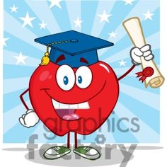 Graduation clipart pencil A Character Apple Diploma and