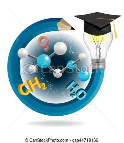 Graduation clipart pencil Vector csp44718166 symbols of cap
