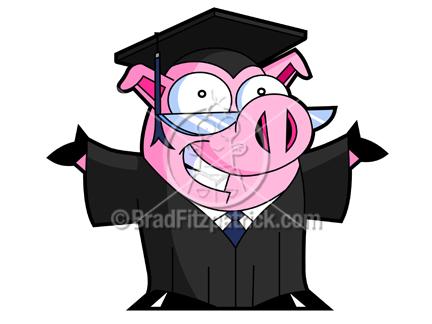 Graduation clipart pig Art of Pig  Clipart