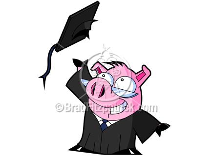 Graduation clipart pig  Pig Clip Graduation Free