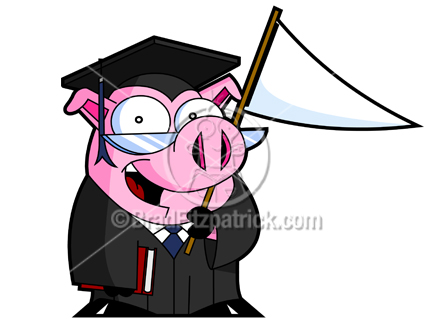 Graduation clipart pig With Clipart Pig a Banner