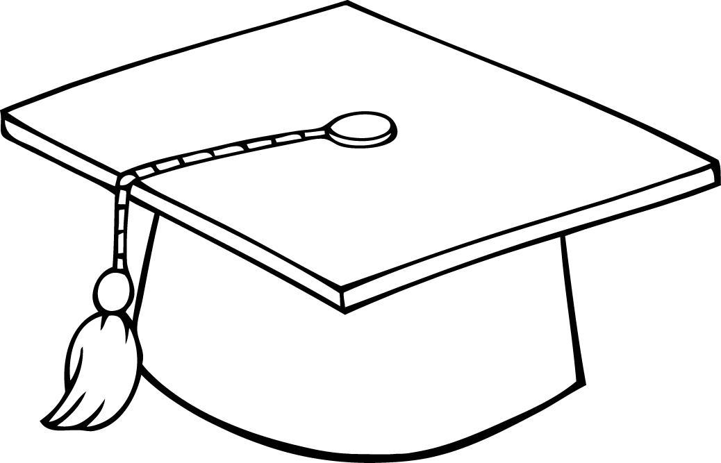 Graduation clipart printable Hats graduation black Free white