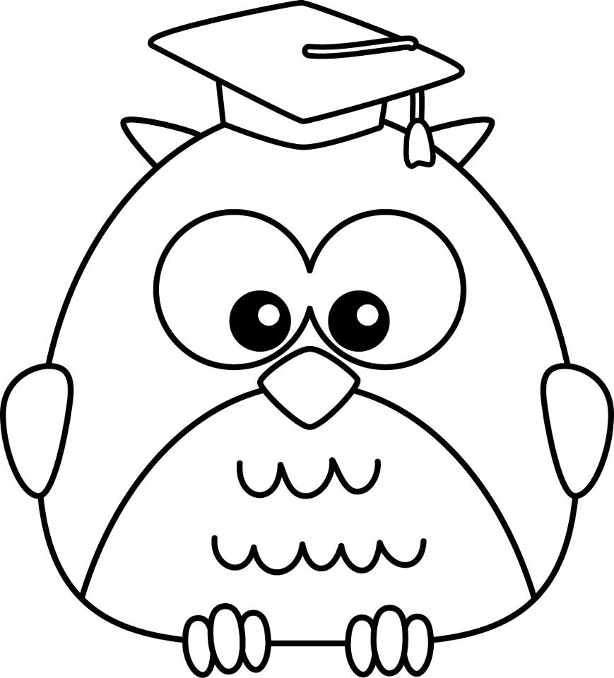Owl clipart kindergarten Graduation collection Graduation black Art