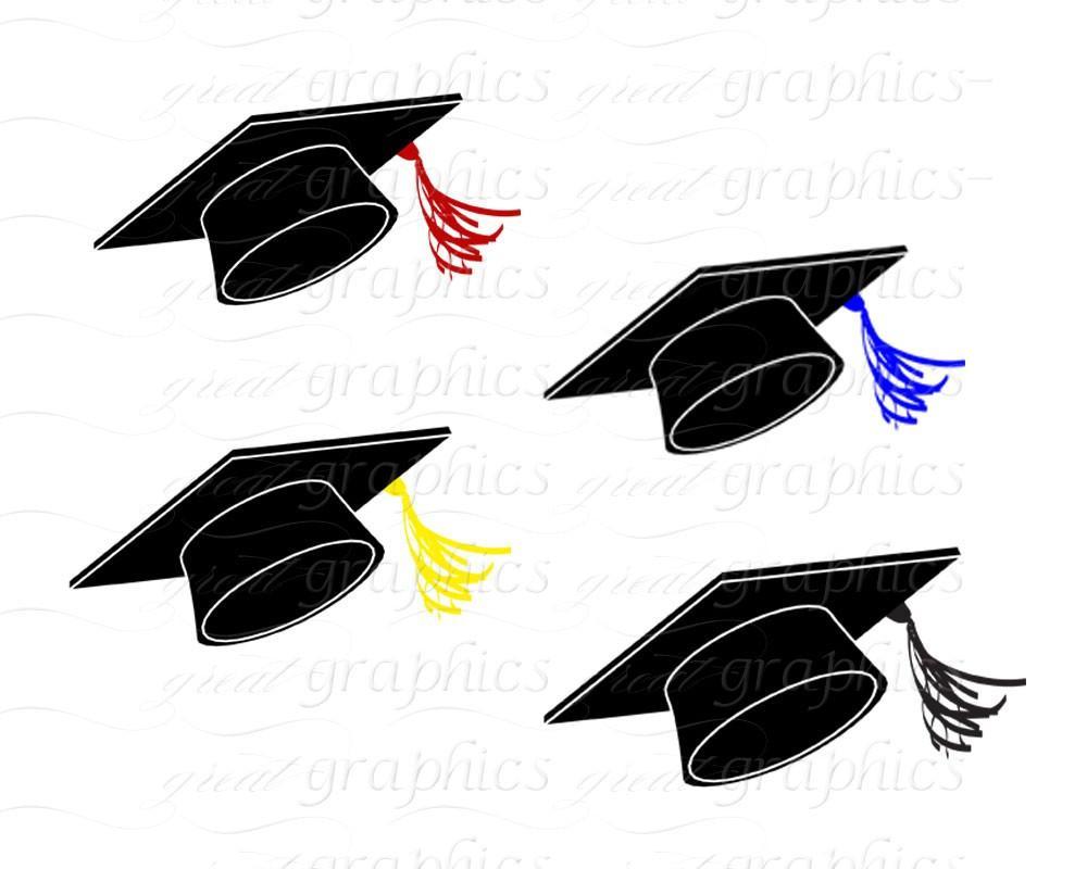 Graduation clipart printable Caps Printable Digital Art Instant