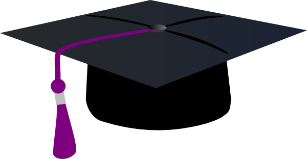 Graduation clipart purple #12