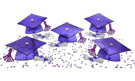 Graduation clipart purple #14