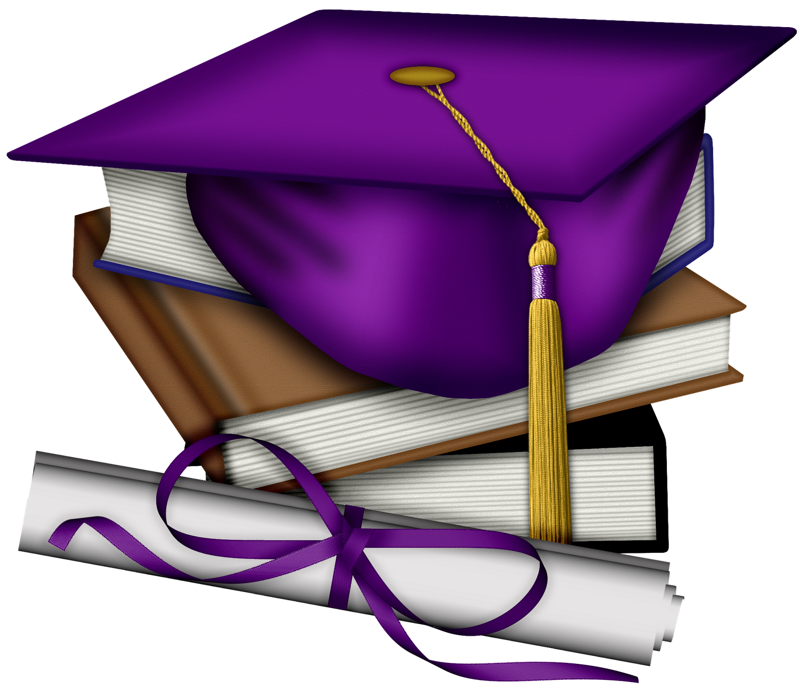 Graduation clipart purple #9