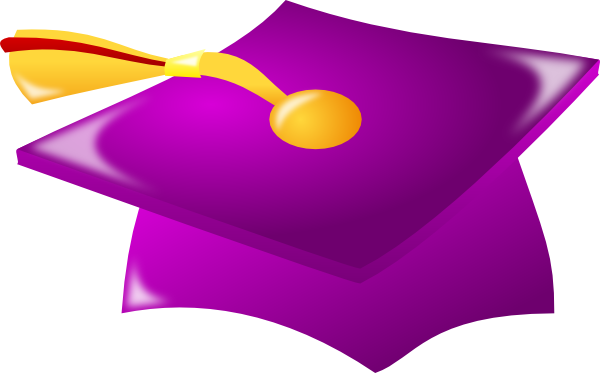 Graduation clipart purple #10