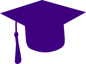 Graduation clipart purple #6