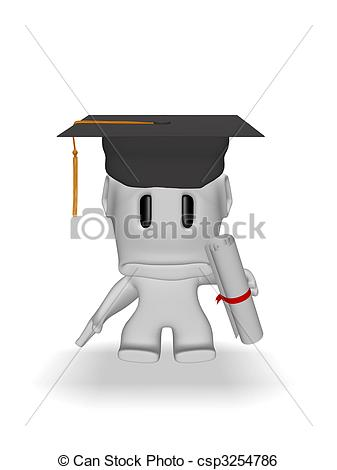 Graduation clipart sad Man  graduation Stock Download
