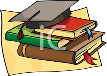 Graduation clipart school book Cap of Picture Books and