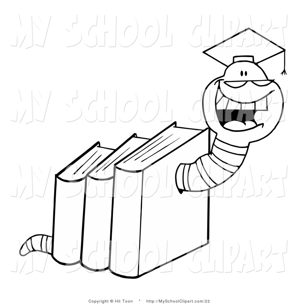 Graduation clipart school book Of a  with Art