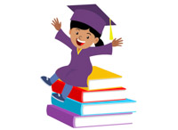 Graduation clipart school book 58 for Graphics  sitting