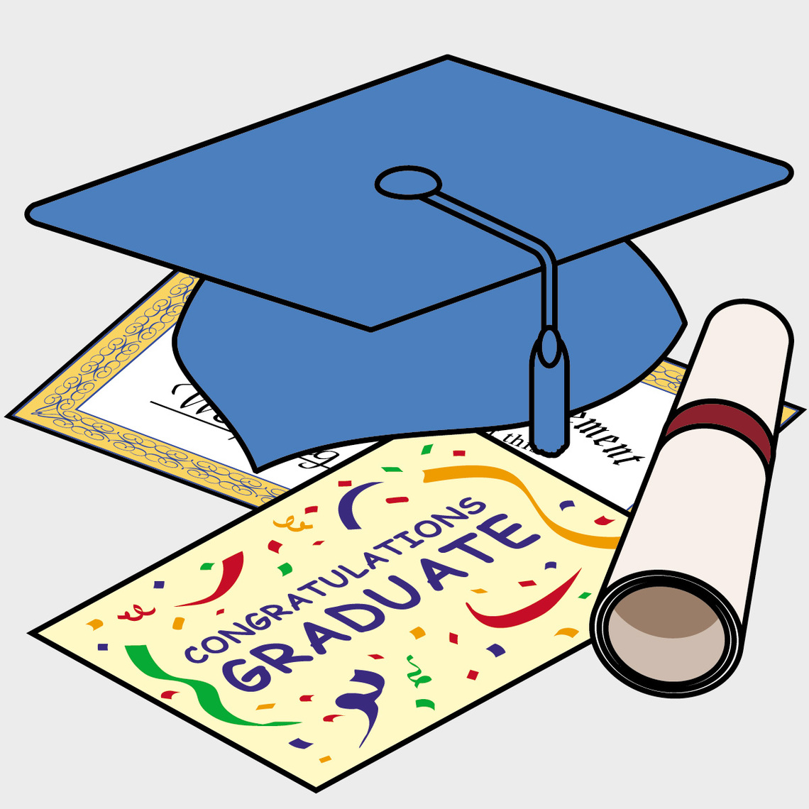 Graduation clipart school book Zone · Cliparts Coloring Books