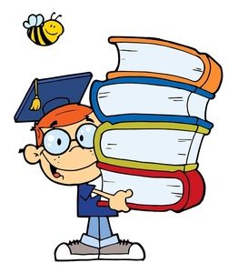 Graduation clipart school book Books school  boy of