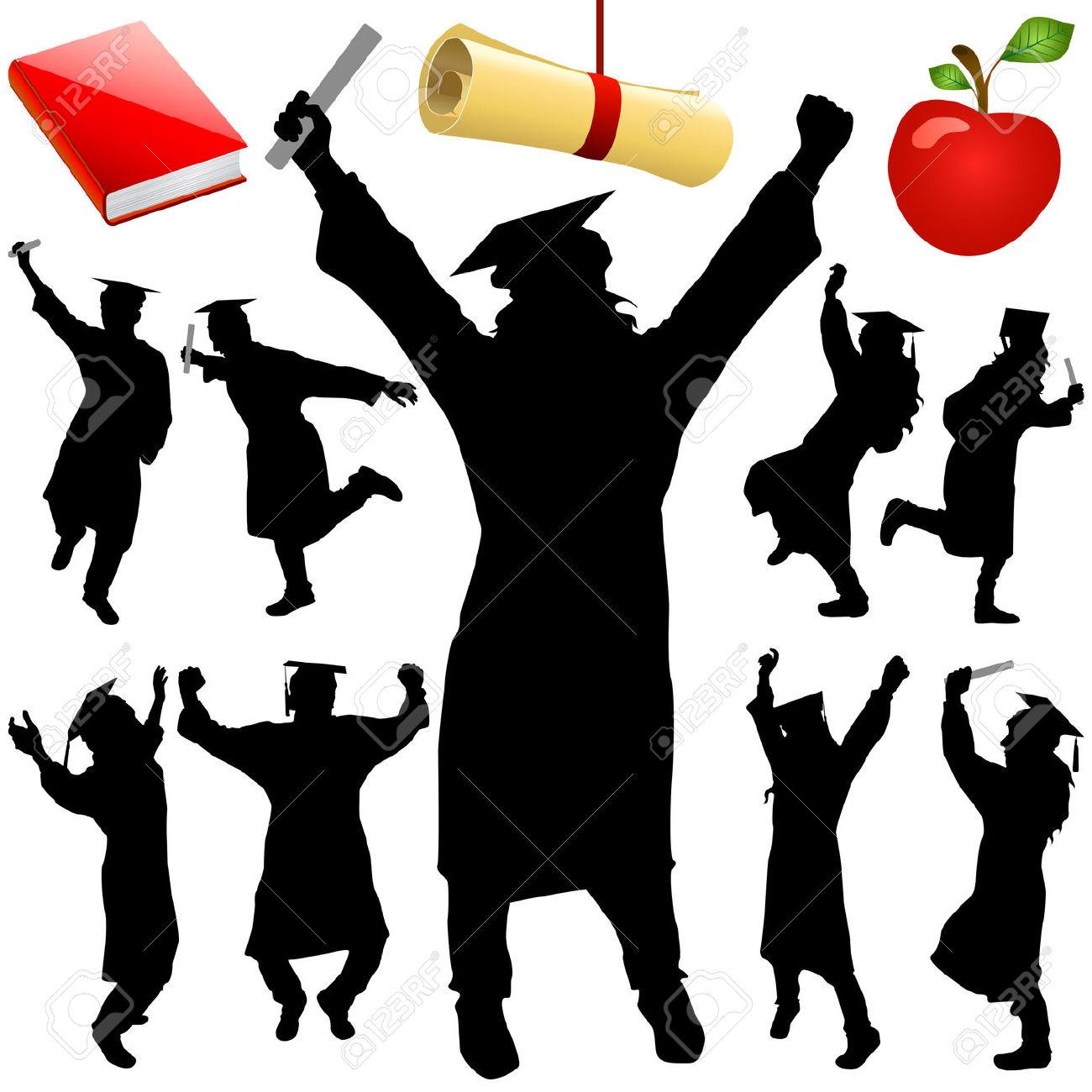Graduation clipart shadow #13