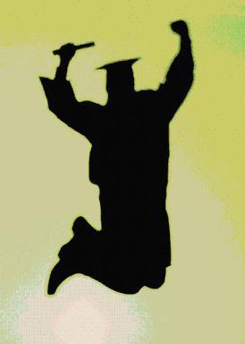 Graduation clipart shadow #3
