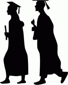 Graduation clipart shadow Think Silhouette Image Young Graduation