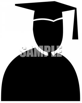 Graduation clipart shadow #5
