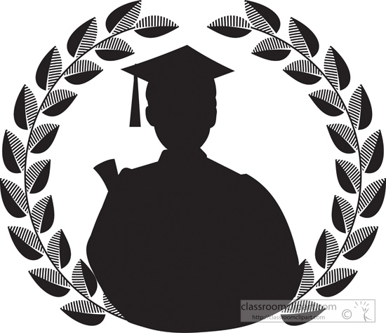 Graduation clipart silhouette Results From:  Silhouette Search