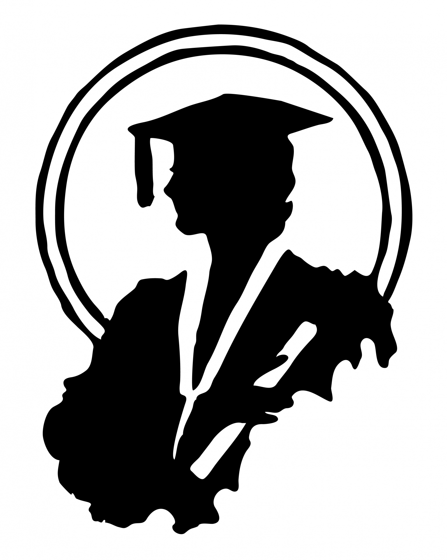 Graduation clipart silhouette Photo Graduate Graduate Clipart Stock