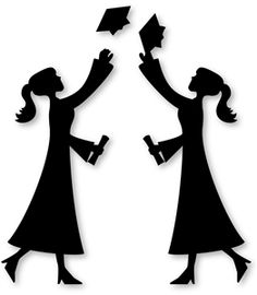 Graduation clipart silhouette Silhouette Pinterest with art for