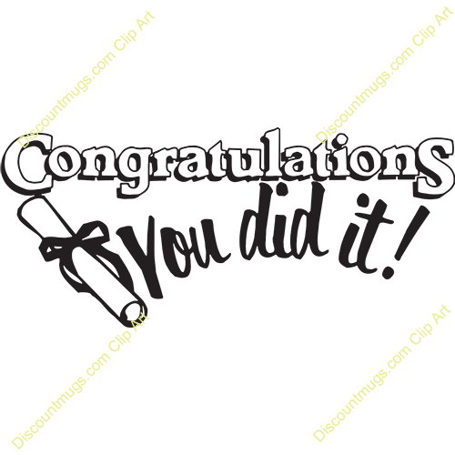 Graduation clipart you did it Clipart t Clipart did it