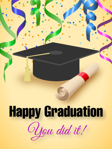 Graduation clipart you did it You Happy Graduation Greeting Cards
