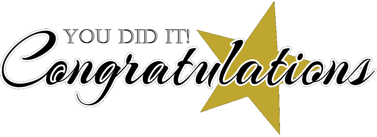 Graduation clipart you did it Congratulations clipart Congratulations graduates clipart