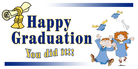 Graduation clipart you did it  Banner Did It Graduation