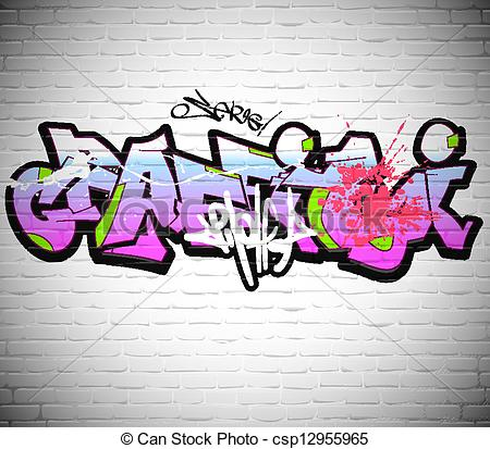 Graffiti clipart Graffiti Artist Clipart Art of urban Vector csp12955965