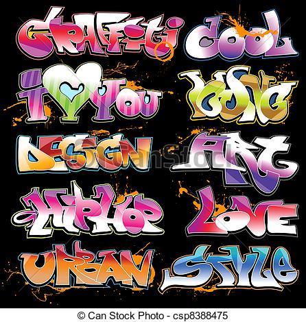 Graffiti clipart Graffiti Artist Clipart Set Graffiti set of