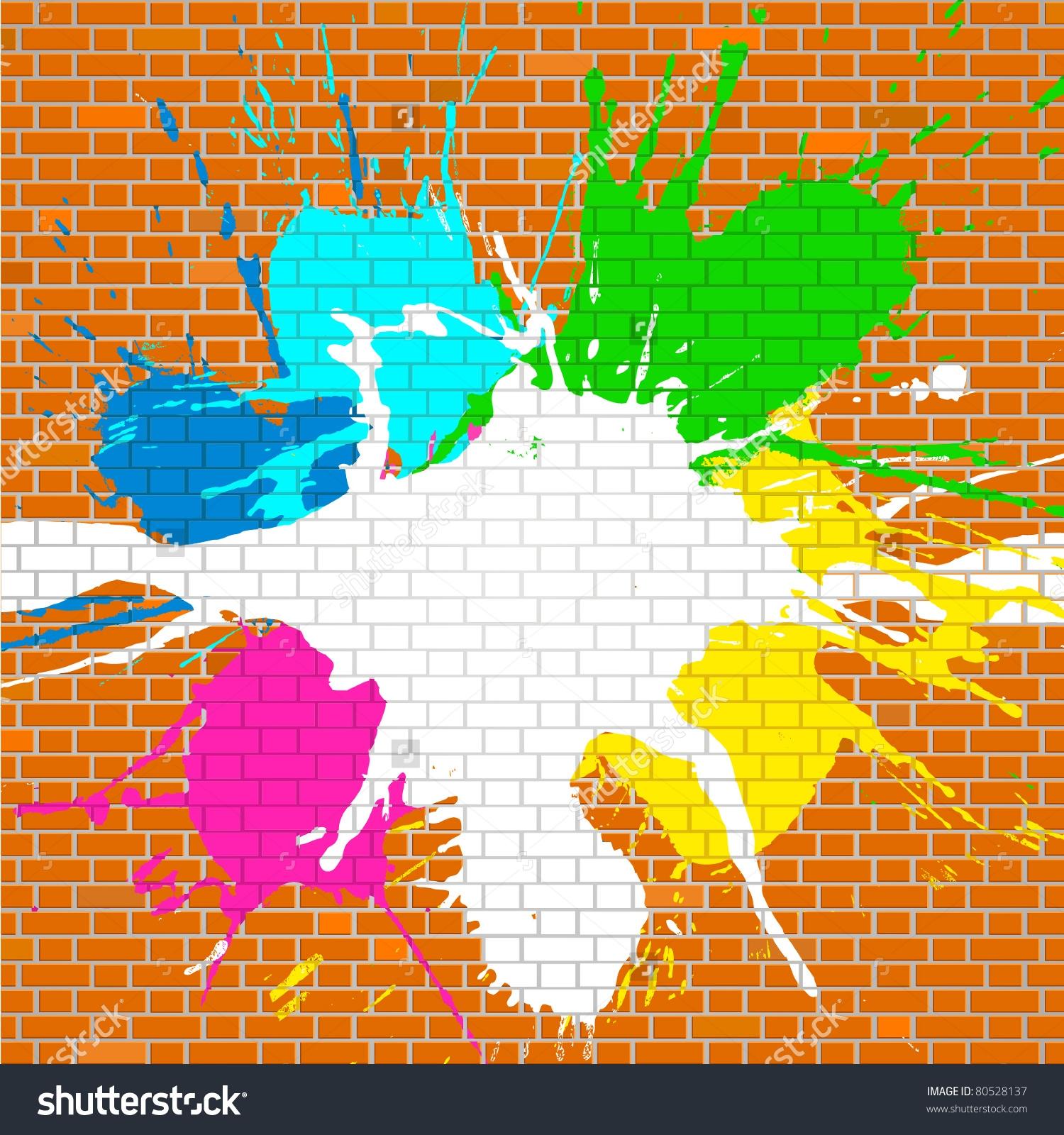 Graffiti clipart Graffiti Brick Wall Clipart  Landscape : Brick Elegant