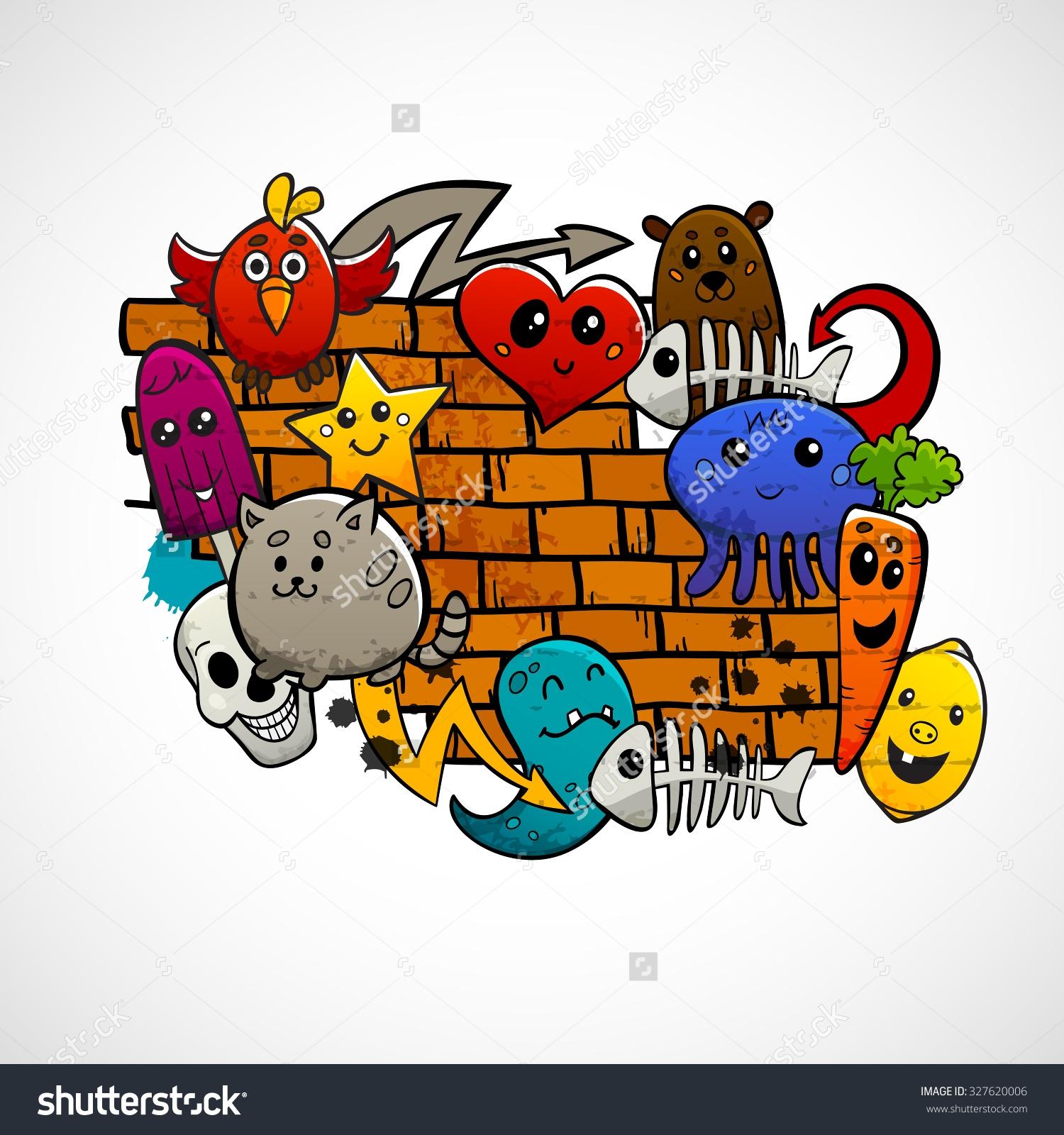 Graffiti clipart Graffiti Brick Wall Clipart  Building :  Brick