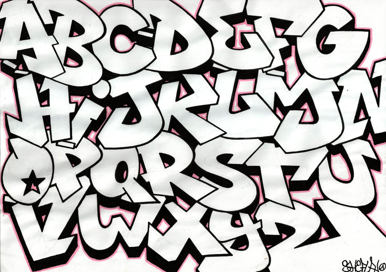 Graffiti Clipart Letters  Graffiti Art Free Clip