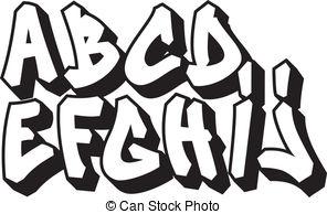 Graffiti Clipart Letters Alphabet part font street 1