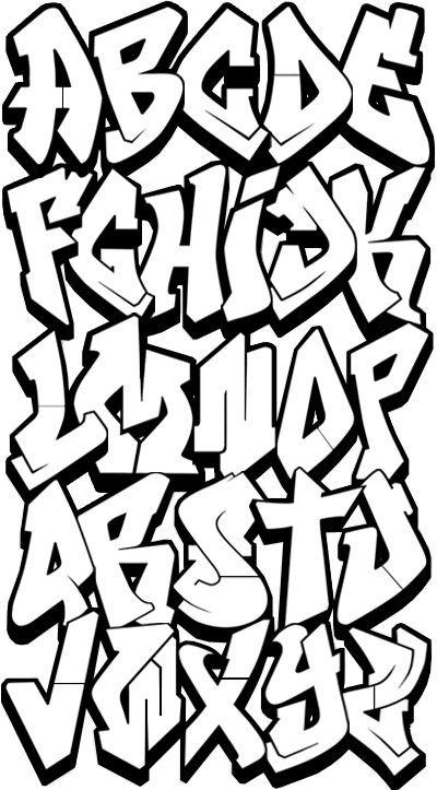 Graffiti Clipart Letters On Hip Fonts hop grafitti