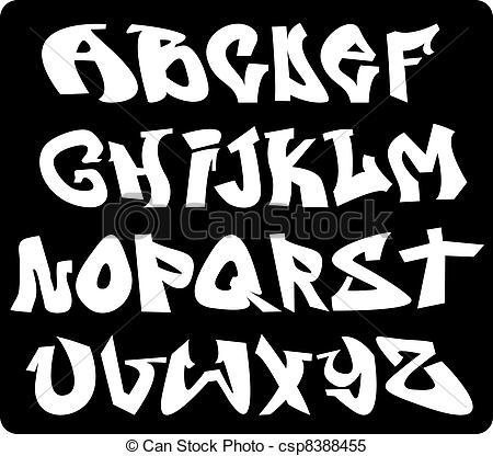 Lettering clipart graffiti Font Clipart  Vector letters