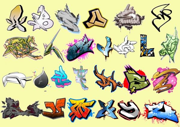 Graffiti Clipart Letters Graffiti Download Letters Vector Clipart