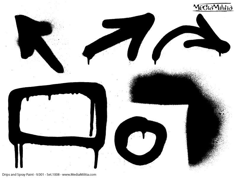 Graffiti clipart Spray Paint Drip Clipart Militia Media and Free Pack
