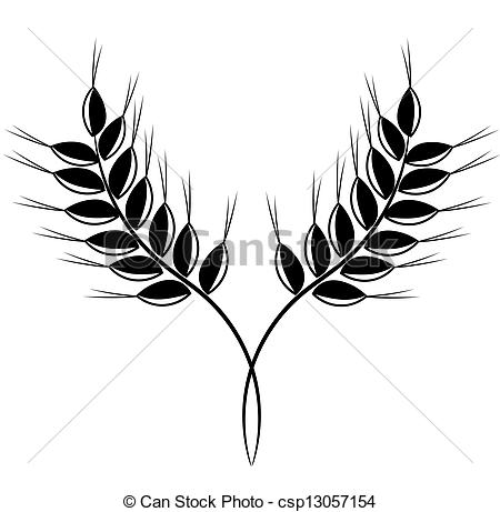 Grain clipart wheat farm Black 83 222 ears vector