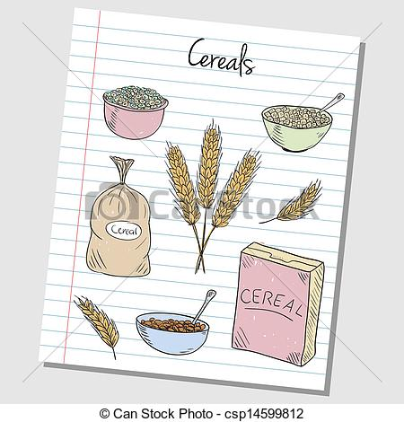 Grain clipart cereal Lined Art Clip csp14599812 of