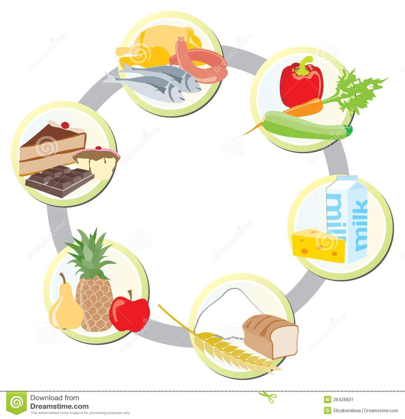 Grain clipart food group Food with food of women