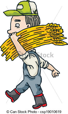 Grain clipart wheat farm Csp19010619 A cartoon Wheat